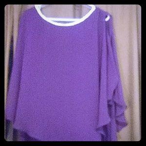 Dark purple dress with jewel accents